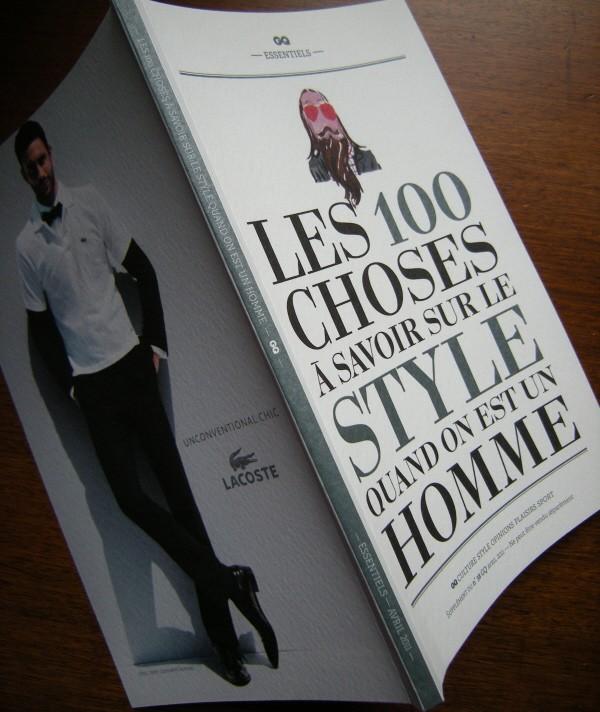 gq,anne boulay,jean philippe delhomme,marc beaugé,gonzague dupleix,100 choses à savoir sur le style quand on est un homme