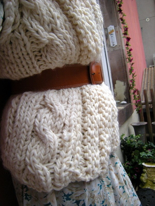 tuto tricot grosse laine